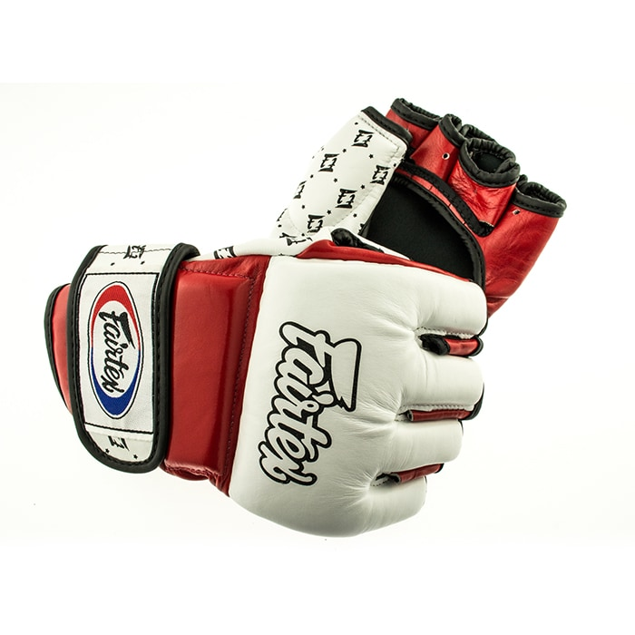 Fairtex fgv17 mma glove red white l gymr tta for 1083 3