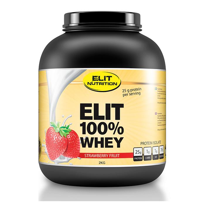 ELIT 100% Whey, 2300 g, Strawberry Fruit – Gymråtta